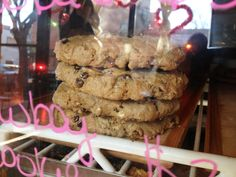 a stack of oat-y #vegan cookies at Clementine Bakery in Clinton Hill/Bed-Sty