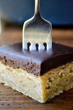 A moist peanut butter cake with a thick to-die-for layer of chocolate ganache!