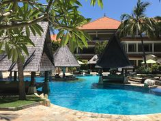 It's a perfect day to take a dip in our Celepook Pool.   #thetanjungbenoabeachresortbali #thetanjungbenoa #TheTaoBali #bali Picture by: @gabivaz31