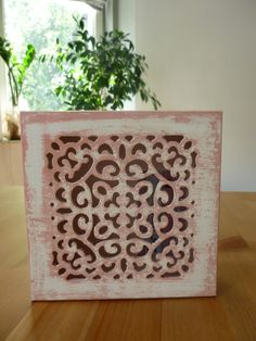drewniane ażurowe pudełeczko-góra #handmade #decoupage #box