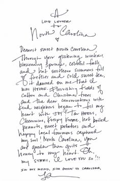 """A love letter to NC. Don't know who wrote this but I will always be proud of my birth state and will always call North Carolina """"HOME""""."""