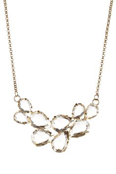 Champagne Cluster Necklace//
