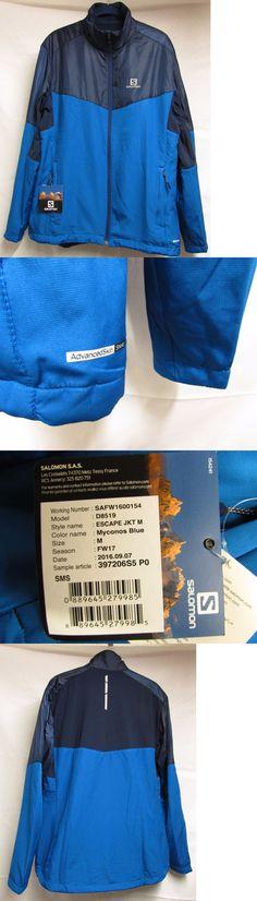 Jackets and Vests 59353: New Salomon Mens Medium Escape Ski Running Jacket Myconos Blue Nwt -> BUY IT NOW ONLY: $59.98 on eBay!