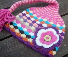 Baby girl crochet gnome hat with flower size 3-6 mths. $24.00, via Etsy.