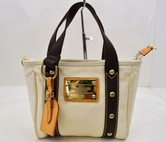 Louis Vuitton Antigua Cabas Pm Ivory White Tote Bag. Get one of the hottest  styles. Tradesy 025201734a