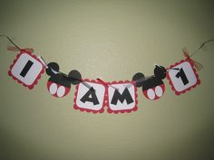 Mickey Mouse High Chair Banner - I AM 1. $12.00, via Etsy.