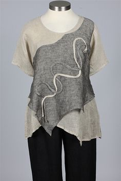 NP - Ribbon Tunic - Natural & Black