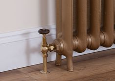 Brumpton manual valve in brass with a inlet. For use with traditional cast iron radiators. Decor, Brass, Traditional Radiators, Door Handles, Iron, Chrome Finish, Home Decor, Chrome