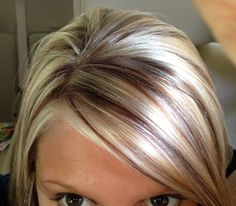 55 Ideas Hair Color Highlights And Lowlights Brown Fun For Types Of Hair Color, Hair Color And Cut, Love Hair, Great Hair, Short Hair Cuts, Short Hair Styles, Short Pixie, Hair Color Highlights, Hair Dos