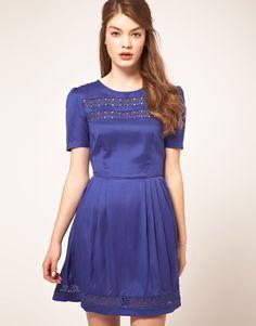 ASOS Tea Dress with Crochet Insert