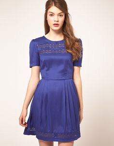 ASOS Tea Dress with Crochet Insert