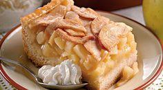 Яблочный пирог с винным кремом