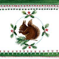 2314 Servilleta decorada Navidad