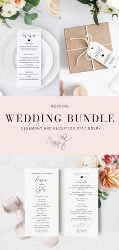 This wedding bundle includes wedding signs, wedding favor tags, wedding menus, wedding programs, and absolutely everything that you will need for your wedding day. Wedding Programs, Wedding Signs, Wedding Table, Wedding Ceremony, Wedding Shower Favors, Wedding Favor Tags, Wedding Welcome Baskets, Wedding Stationery, Wedding Invitations