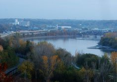 Wyeth Hill.  Taken from Wyeth Hill in St. Joseph, MO. Kansas on the right of the Missouri River, and St. Joe on the left.  The Quaker Oats building in the distance.  Dad worked there for 36 years.