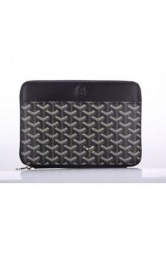 Goyard Mini IPad Case Black With Khaki