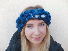 HeadBand Knitted HeadBand Wool HeadBand Blue HeadBand от Monpasier
