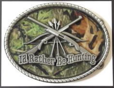 Rather Be Hunting Camouflage Buckle 32017 Bow Hunter Western Belt Buckles | eBay