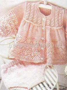 hand maide children clouse | baby ponchos hand knit in a soft baby yarn these sweater sets are made ...