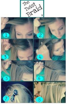 The twist braid tutorial! Read how to get this cute simple look. ..wonder if I could do this w/my hair? hmm