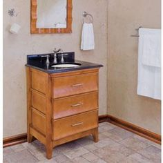 Small vanity with big storage space.
