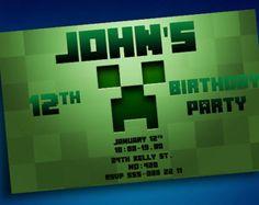 Minecraft Invitation Maker IPhone IPad App D Invite Maker - Minecraft birthday invitation maker