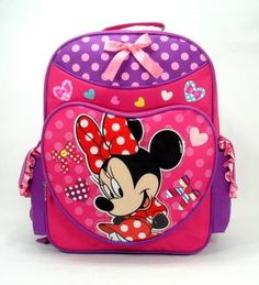 Backpack - Disney - Minnie Mouse - Pink Polka Lucky Bag (Large School Bag). Price: $24.50