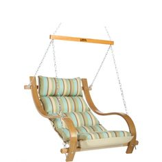 Charmant Single Swing With Oak Arms   Spring Bay Stripe. Hatteras Hammocks