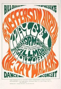 WES WILSON, psychedelic concert poster late 1960s.