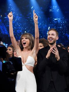 See Taylor Swift and Calvin Harris's most aw-worthy moments.