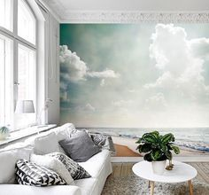 Vlies fotobehang Strandzicht vintage - Strand behang | Muurmode.nl