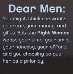 Dear men....