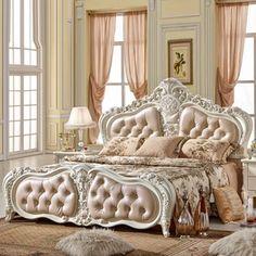 卧室-空间-家居-生活街-淘宝网 Bedroom Designs, Bedroom Ideas, Bedroom Decor, Royal Bed, Play Pen, Beautiful Beds, French Bed, Dreams Beds, Bachelorette Pad