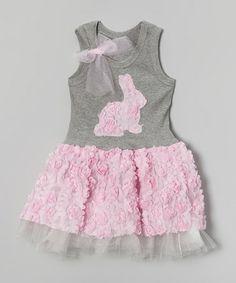 Pink Bunny Rose Tank Dress - Toddler & Girls #zulily #zulilyfinds