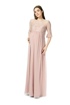 1bb0d57cbb868 Style 1892-M from Bari Jay is a long maternity bridesmaid dress that has a. French  Novelty