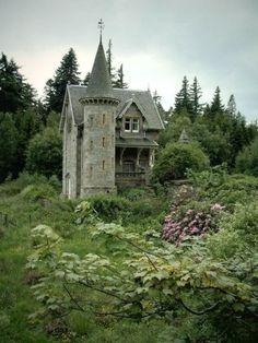 Tiny castle in Scotland