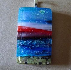 ON THE BEACH - by Fused Glass by Design