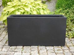 Planter fiberglass the FEDERAL HORTICULTURAL SHOW 100x40x50cm in black €129.50