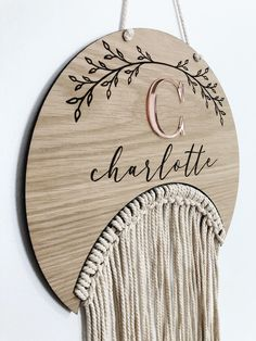 Laser Art, 3d Laser, Easy Diy Crafts, Craft Stick Crafts, Wall Hanging Designs, Initial Fonts, Oak Plywood, Rainbow Bow, Macrame Supplies