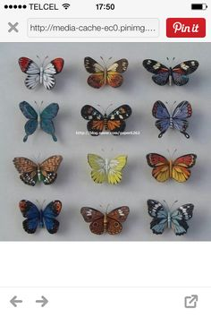Mariposas de filigrana de papel