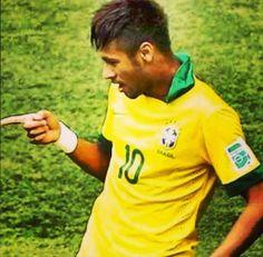 Neymar, Brazil c; World Cup 2014, Fifa World Cup, Neymar Brazil, Messi And Neymar, Good Soccer Players, Play Soccer, Best Player, Fc Barcelona, Polo Ralph Lauren