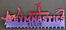 Personalized Gymnastics Medals Display: Gymnastics Ribbons Holder: Medals Hanger