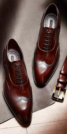Cherry brown brogues with matching belt - Classic! Nice So Nice!!