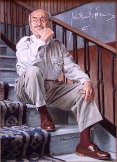 José Luis López Vàzquez. Retrato al óleo de María Silvestre.