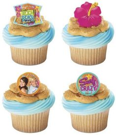 12 Teen Beach Movie Summer Fun Plastic Cupcake Rings Party Favors Cake Toppers For More Information Visit Baking Decorations