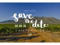 Save The Date / Destination Wedding