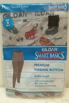 Boy's Thermal Bottom Cars size S 6 - 7 Glidan New in package