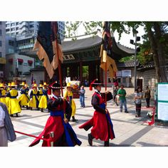 Changing ceremony of Guardsman at Deoksugung which is the representive Roral palace for Joseon Dynasty in Seoul