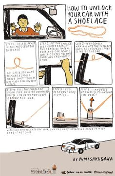 How to Unlock Your Car with a Shoelace « The Secret Yumiverse
