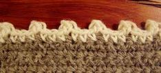 Crochet picot edging with calculations for spacing